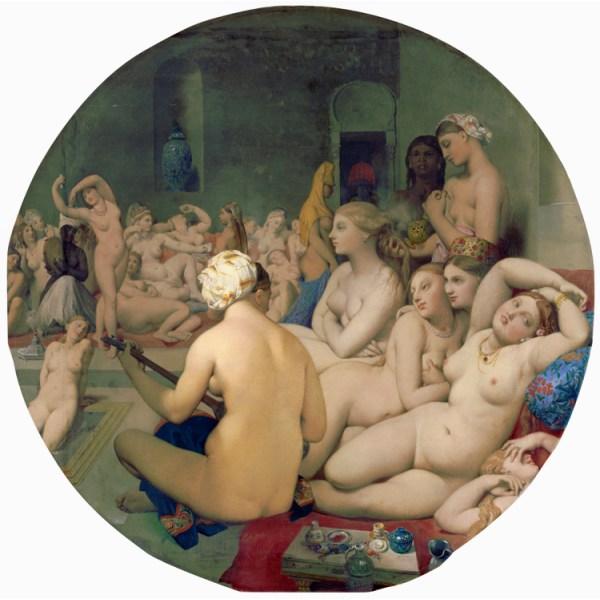 Le Bain turc,Jean-Auguste Dominique Ingres,50x50cm
