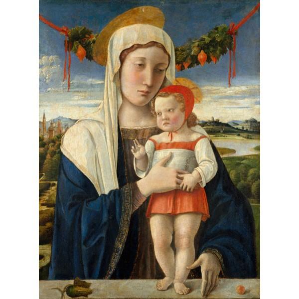 Madonna and child,Gentile Bellini,50x37cm Brun