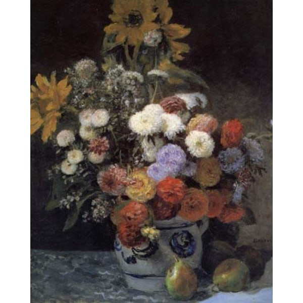 Mixed Flowers in an Earthenware Pot,Pierre Renoir,64.9x54.2cm