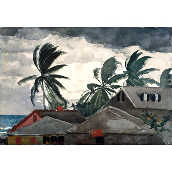 Ouragan aux Bahamas,Winslow Homer,36.8x53.3cm