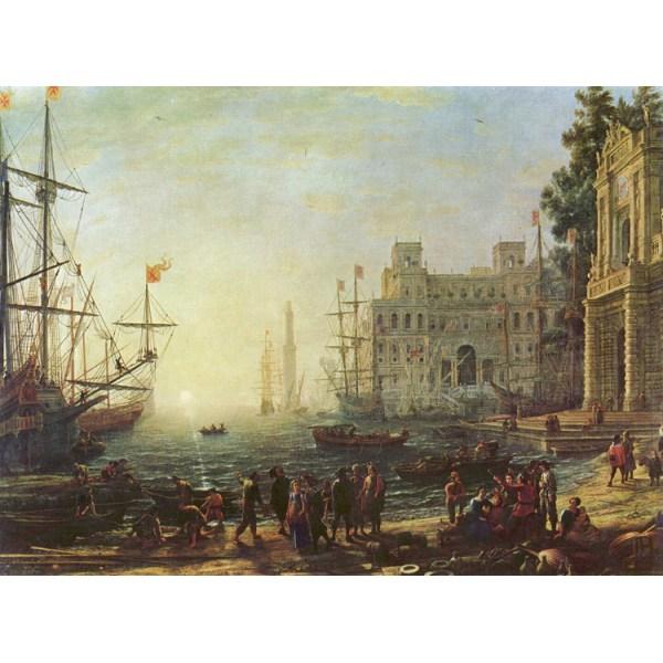 Port with the Ville Medici,Claude Lorrain,50x40cm