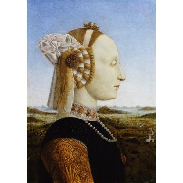 Portrait of Duke Frederico da,Piero della Francesca,47x33cm Brun