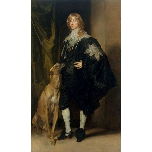 Portrait of James Stuart,Duke of,Anthony van Dyck,60x35cm Brun