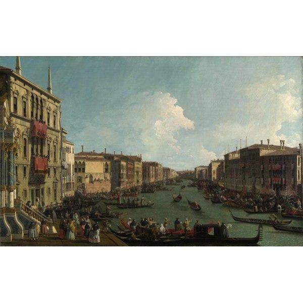 Regatta on the Canale Grande,Canaletto,60x40cm multifärg