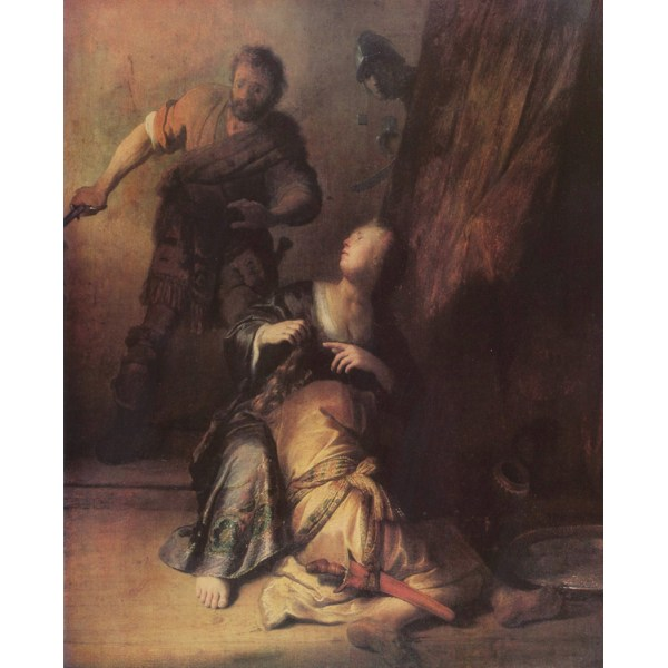 Samson and Deliah,Rembrandt,50x40cm Multicolor for oil paintings