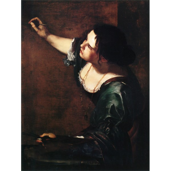 Self-Portrait as an Allegory of,Artemisia gentileschi,50x40cm