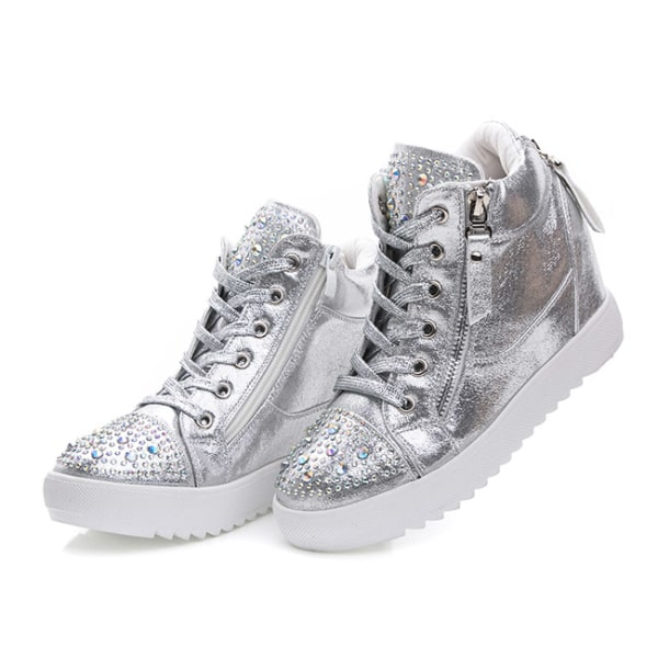 Silver casual skor i konstläder Silver 39