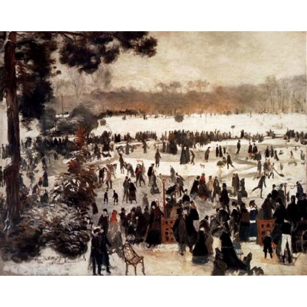 Skaters in the Bois de Boulogne,Pierre Renoir,50x40cm
