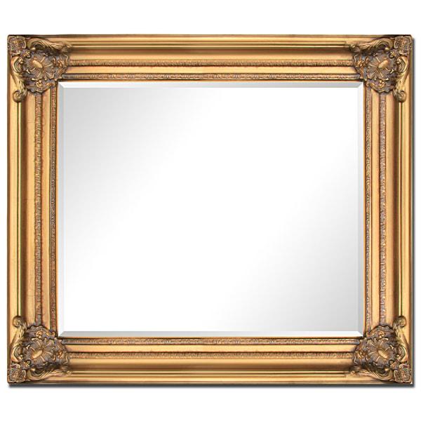 Spegel i guld, yttermått 57x67 cm Guld