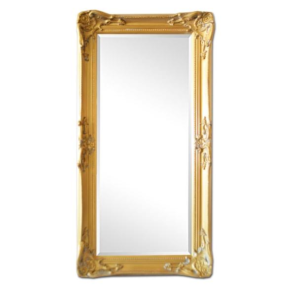 Spegel i ljusguld, yttermått 56x106 cm Guld