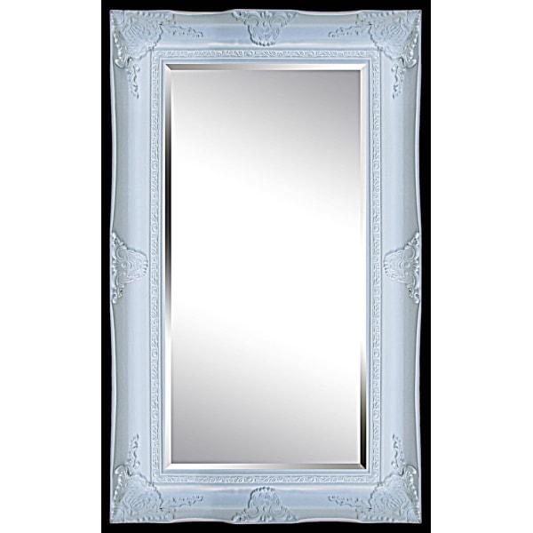 Spegel i vit, yttermått 87x117 cm Vit