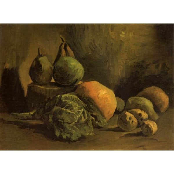 Still life with Vegetables and Fruit,Vincent Van Gogh,32.5x43cm