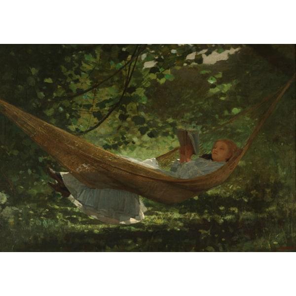 Sunlight and Shadow,Winslow Homer,60x42cm Brun