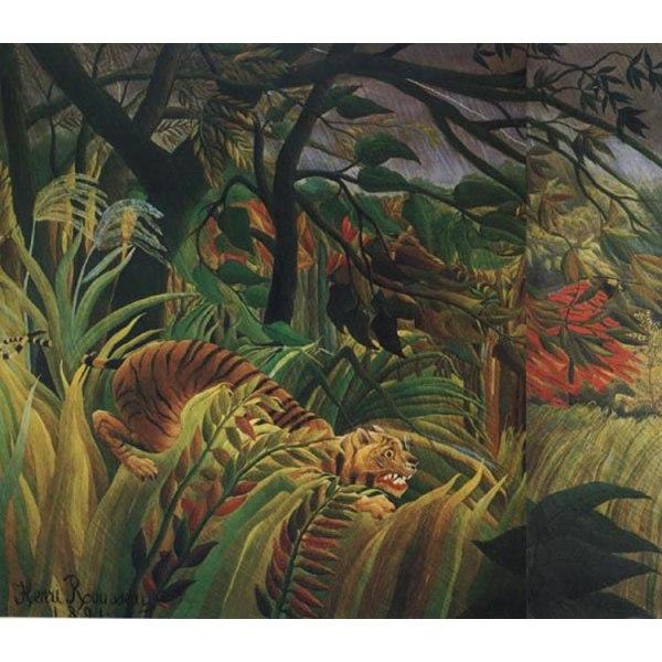 Surprised, Henri Rousseau, 60x50 cm multifärg