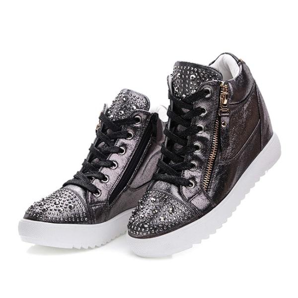 Svarta casual skor i konstläder Black 38