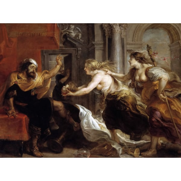 Tereus Confronted with the Head of his,Peter Paul Rubens,50x40cm