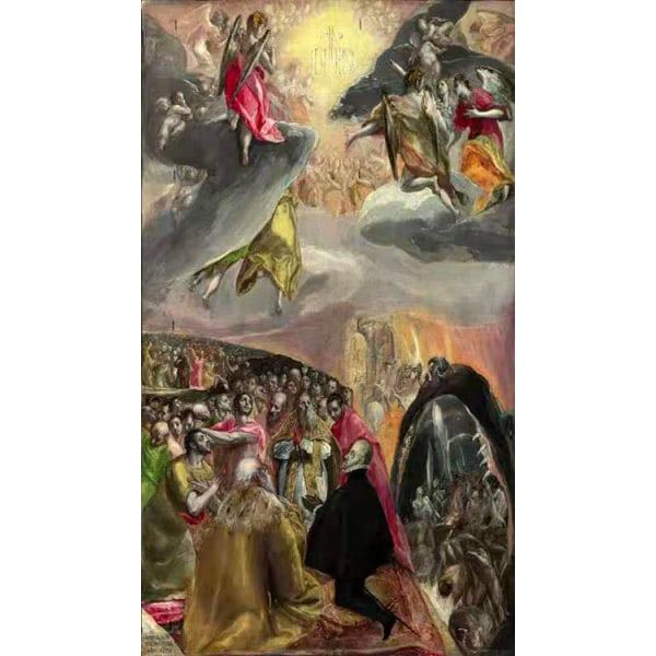 THe Adoration of the Name of Jesus,El Greco,60x34cm Brun