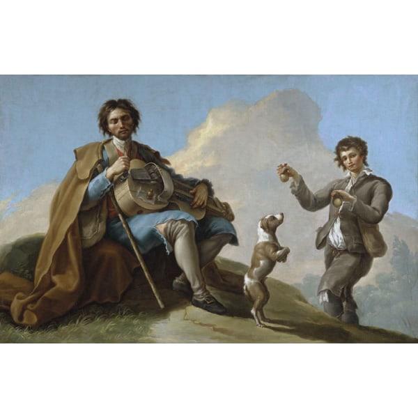 The Blind Singer,Ramon Bayeu,60x40cm Multicolor for oil paintings