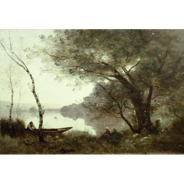 THe boatman of mortefontaine,Jean Baptiste Camille Corot,60x40cm
