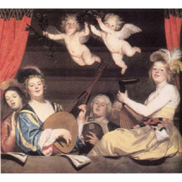 The Concert,Gerrit van Honthorst,60x50cm