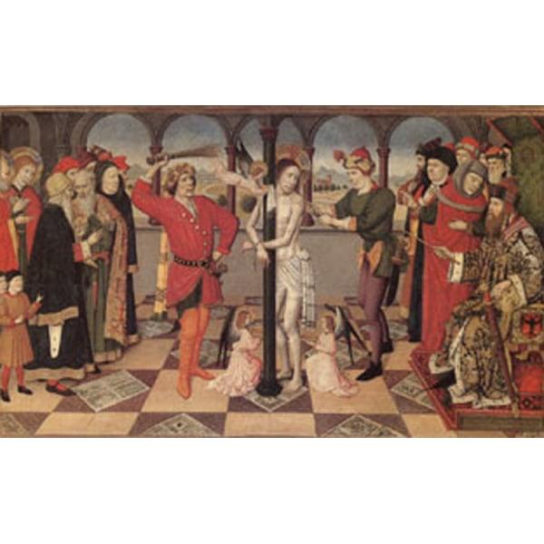 The Flagellation The Four Symbols of the Evangelists, Jaime Hugu