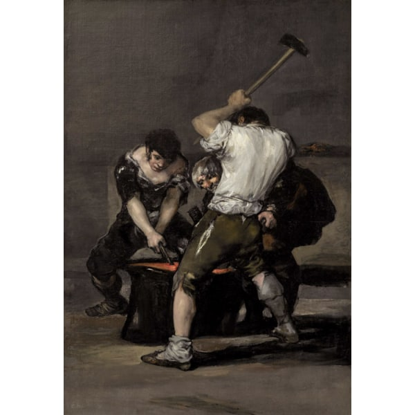 The Forge,Francisco Goya,60x42cm Brun
