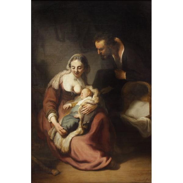 The holy family,REMBRANDT Harmenszoon van Rijn,60x40cm
