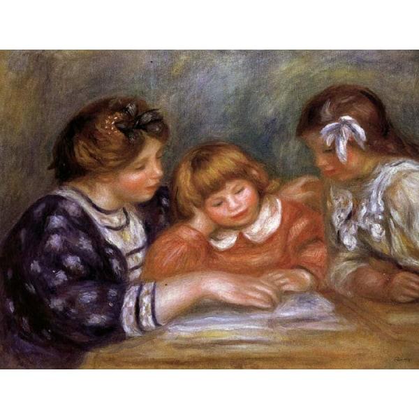 The Lesson,Pierre Renoir,65x85cm