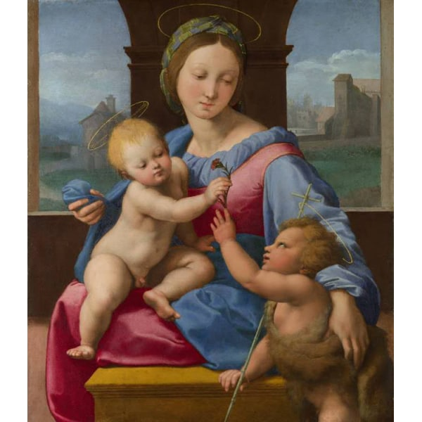 The Madonna and Child with teh Infant,Raphael,38.7x32.7cm Brun