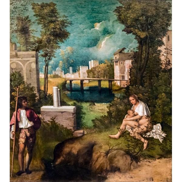 The Tempest,Giorgione,79.5x73cm