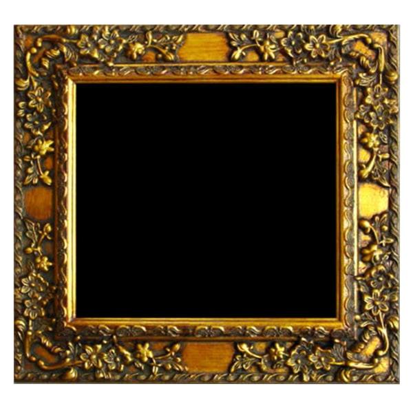 Träram i guld, innermått50x50 cm Guld