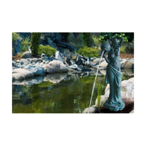 Vattenfall, fontän för trädgården 24x20x66 cm grå