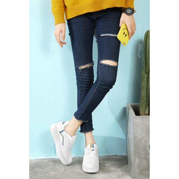 Vita casual skor i konstläder White 38