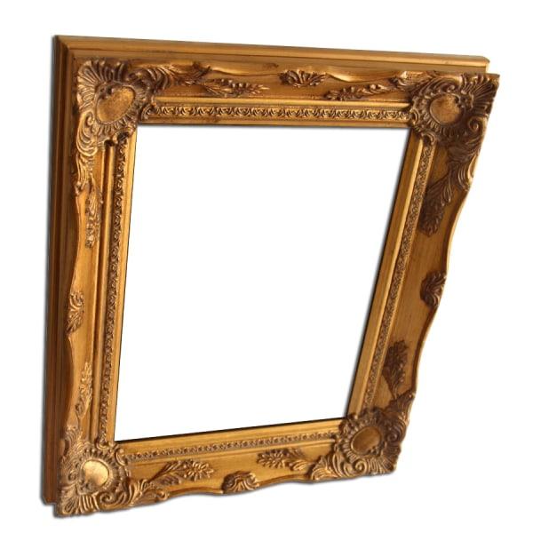 Yttermått 29x34 cm, spegel i guld Guld
