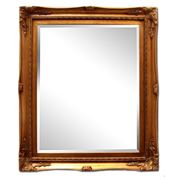 Yttermått 32x37 cm, spegel i guld Guld one size