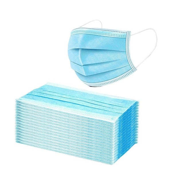 100-Pack  3 lagers Munskydd  CE-märkt  Blue