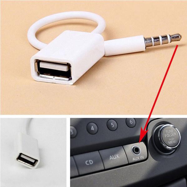 3.5 mm till USB ljudadapter för bil