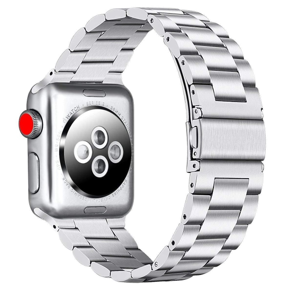 Apple Watch armband 42/44 mm rostfritt stål - silver Silver