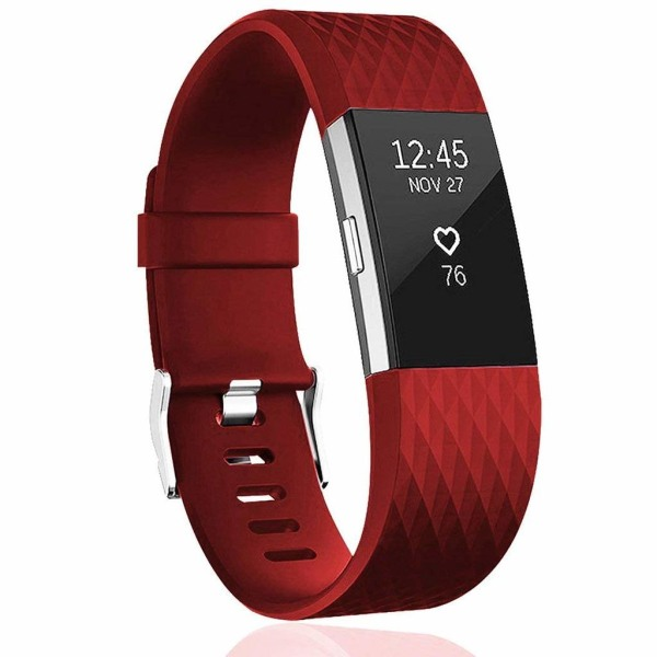 Armband till Fitbit Charge 2 - röd - S