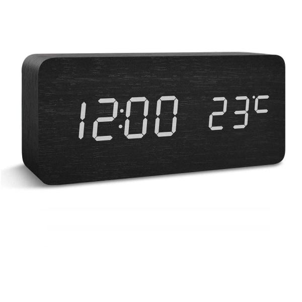Digital LED väckarklocka - svart Svart