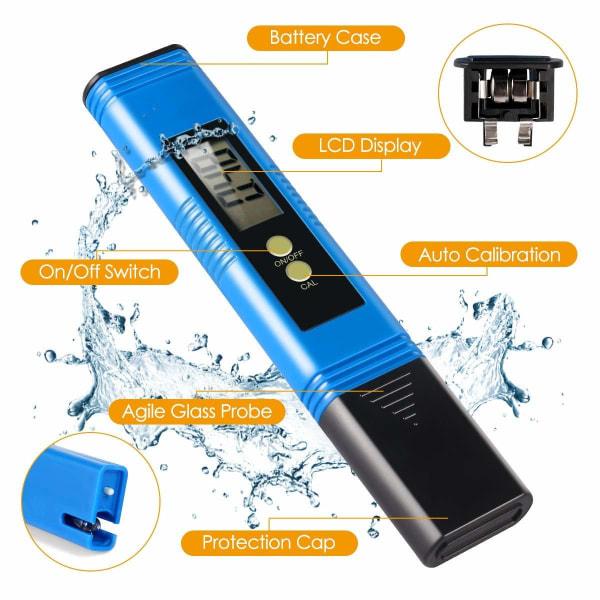 Digital pH mätare för vatten - blå Blå
