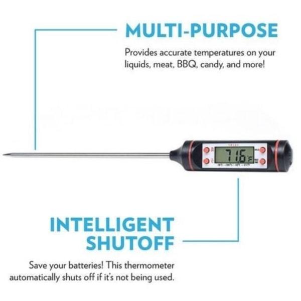 Digital stektermometer med LCD-display