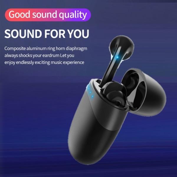 EarPods - trådlösa hörlurar med laddfodral - svart