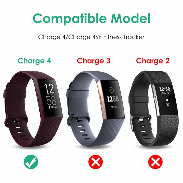 Ersättningsladdare USB, kompatibel med Fitbit Charge 4