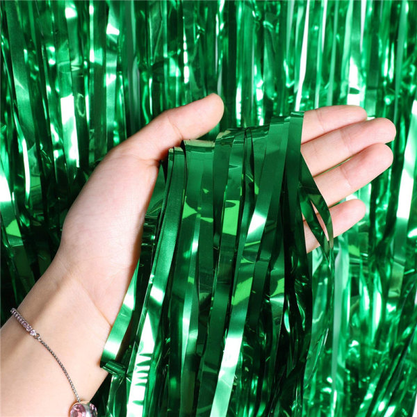 Festlig glittergardin 1x2 meter  Grön