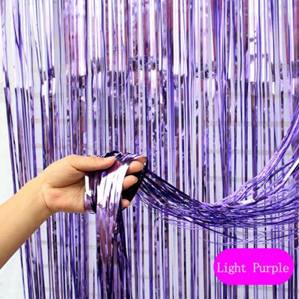 Festlig glittergardin 1x2 meter - Lila