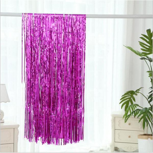 Festlig glittergardin 1x2 meter  rosa