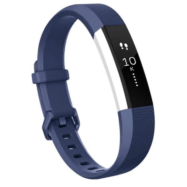 Fitbit Alta/Alta HR armband silikon - 3-pack (S) - svart/grå/blå Svart S