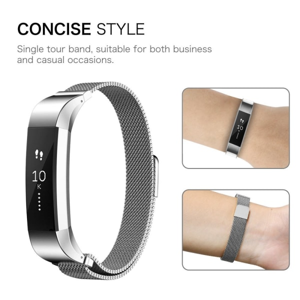 Fitbit Alta/HR armband Milanesisk Loop Silver (S)