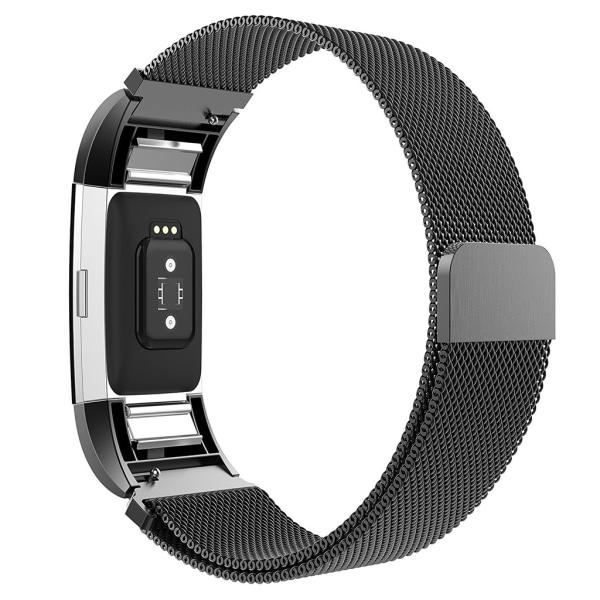 Fitbit Charge 2 armband Milanesisk Loop Svart (S)